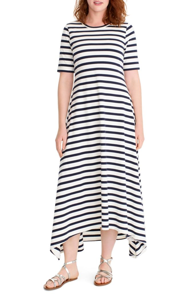 Stripe Knit Maxi Dress