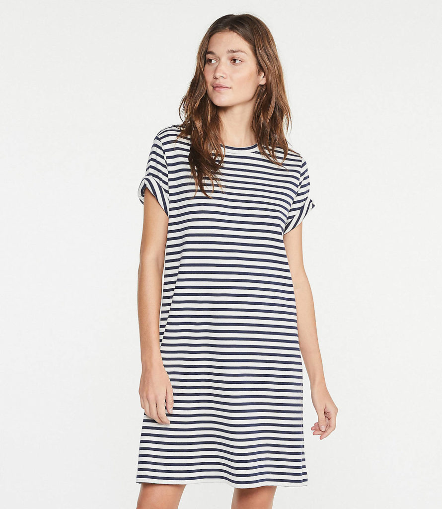 Stripe T-Shirt Dress Cotton