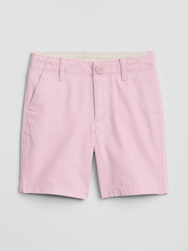 Boys' Pink Khaki Shorts