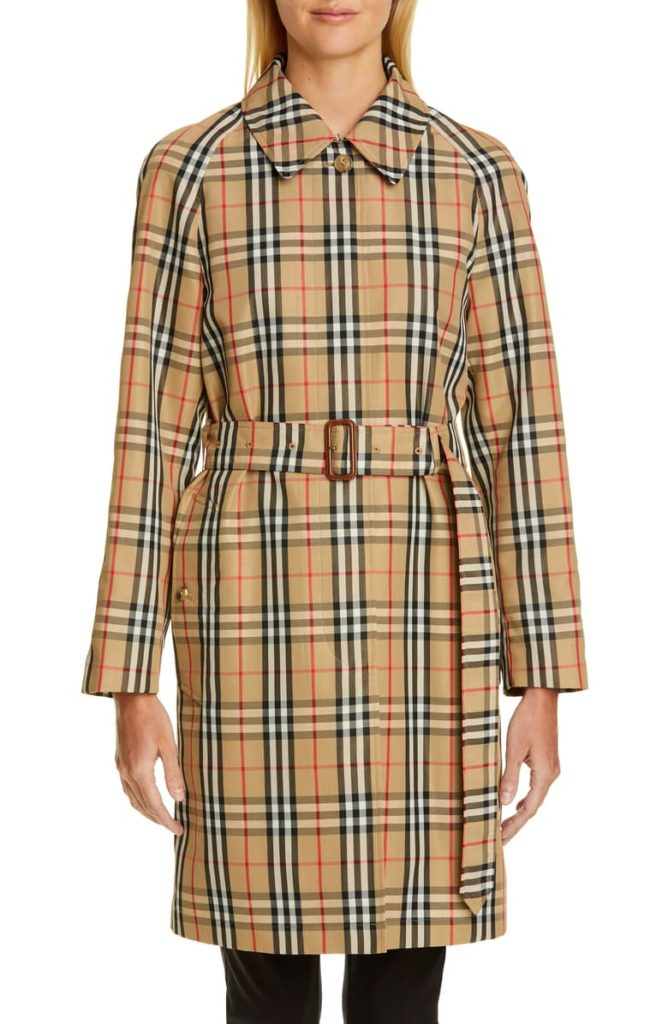 Burberry Vintage Check Car Coat Trench