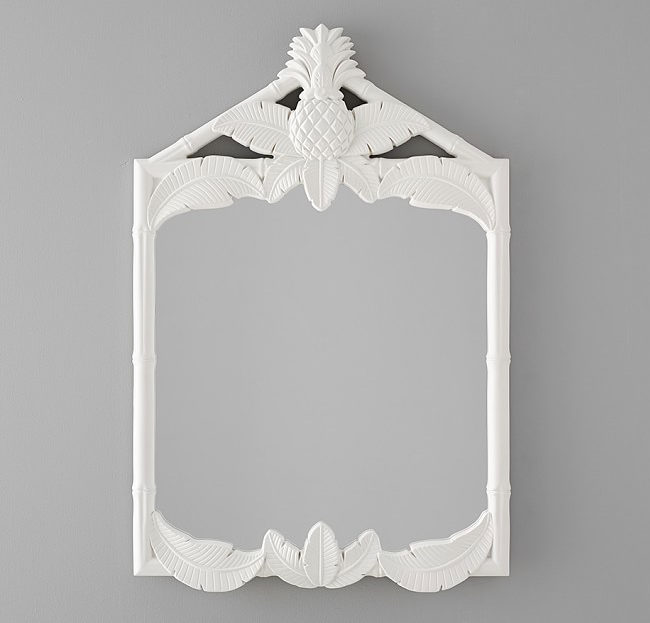 White Pineapple Wall Mirror