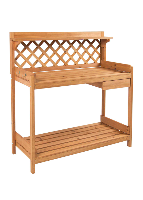 Wood Potting Bench Garden