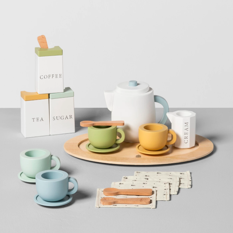 Wooden Toy Tea Set Kids'