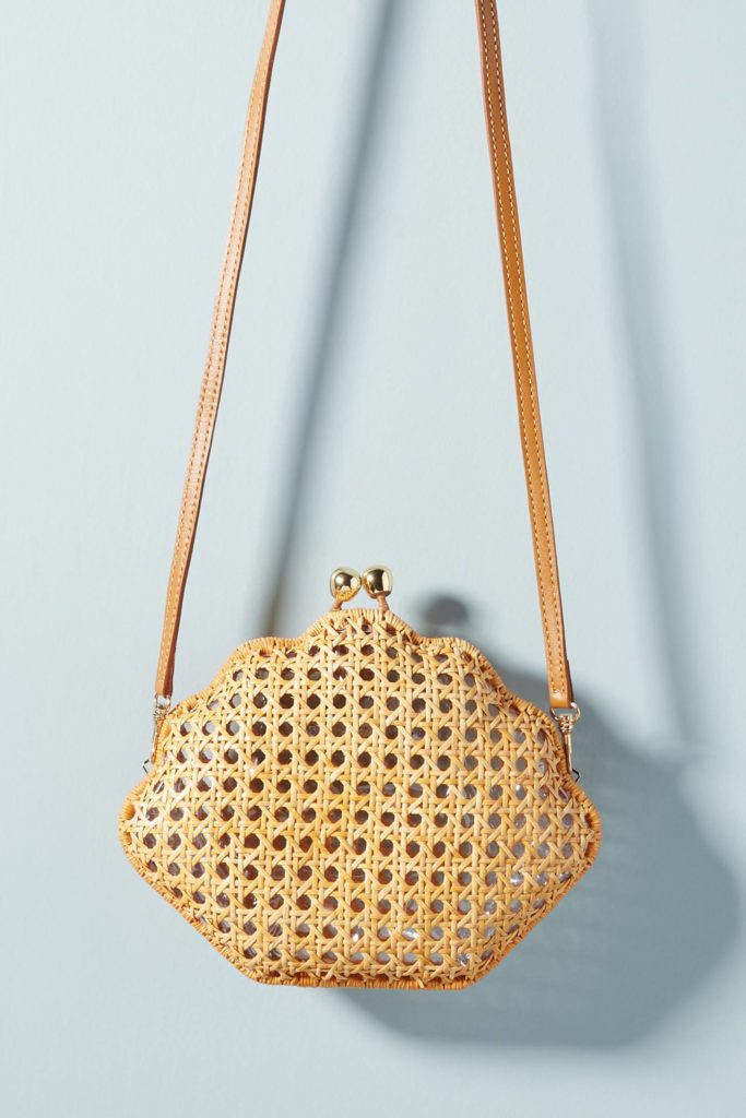 Woven Shell Crossbody Bag Seashell