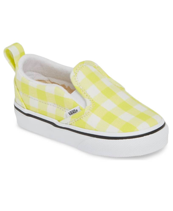 Baby Vans Sneakers Yellow Gingham