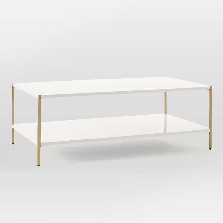 Brass and Lacquer Coffee Table