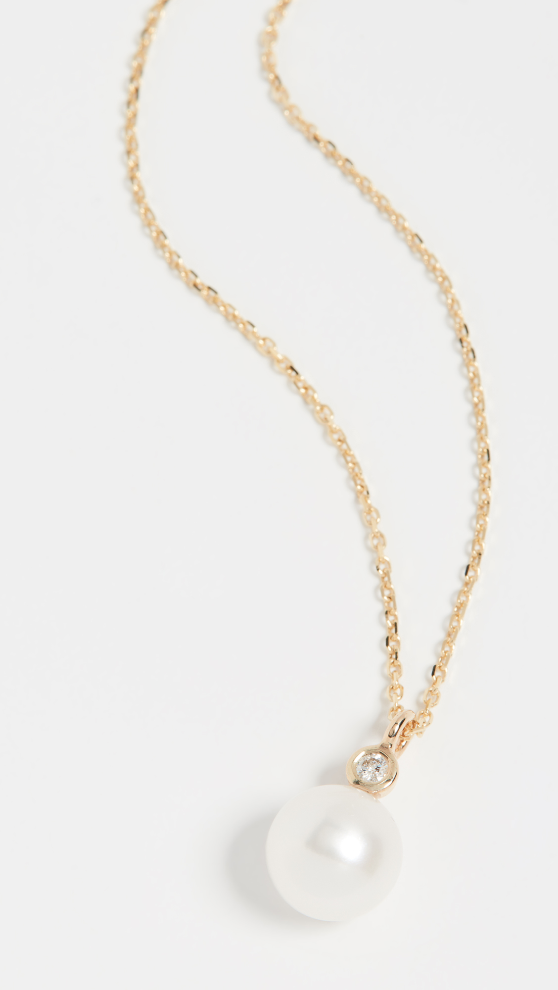 Pearl and Diamond Necklace 14K Gold