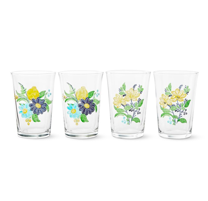 Aerin Floral Tumblers Williams Sonoma