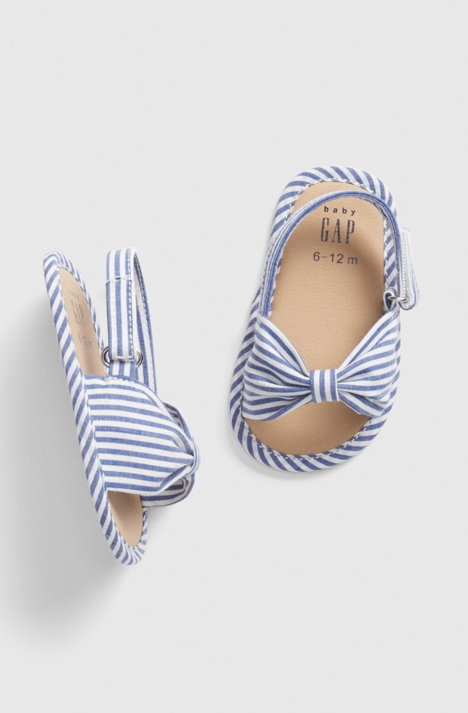 Blue Striped Sandals