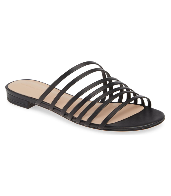 Black Banded Slide Sandal
