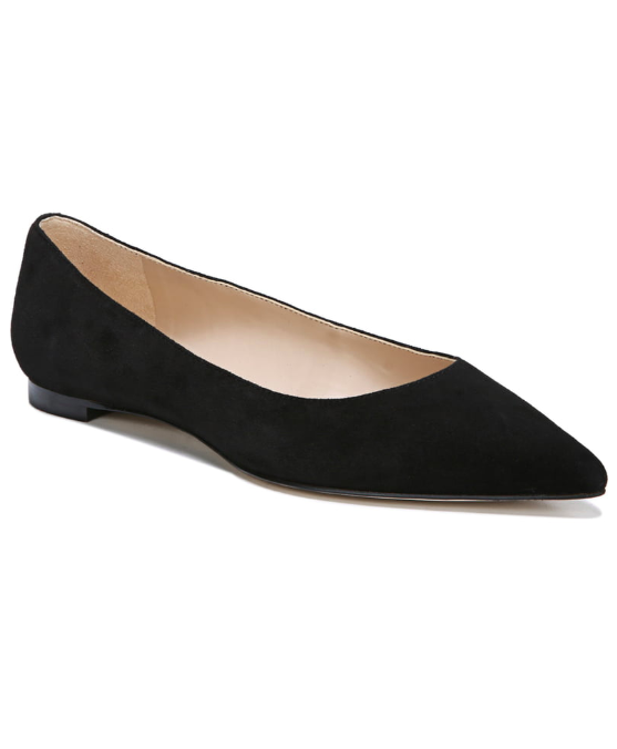 Black Sally Pointed Toe Flat