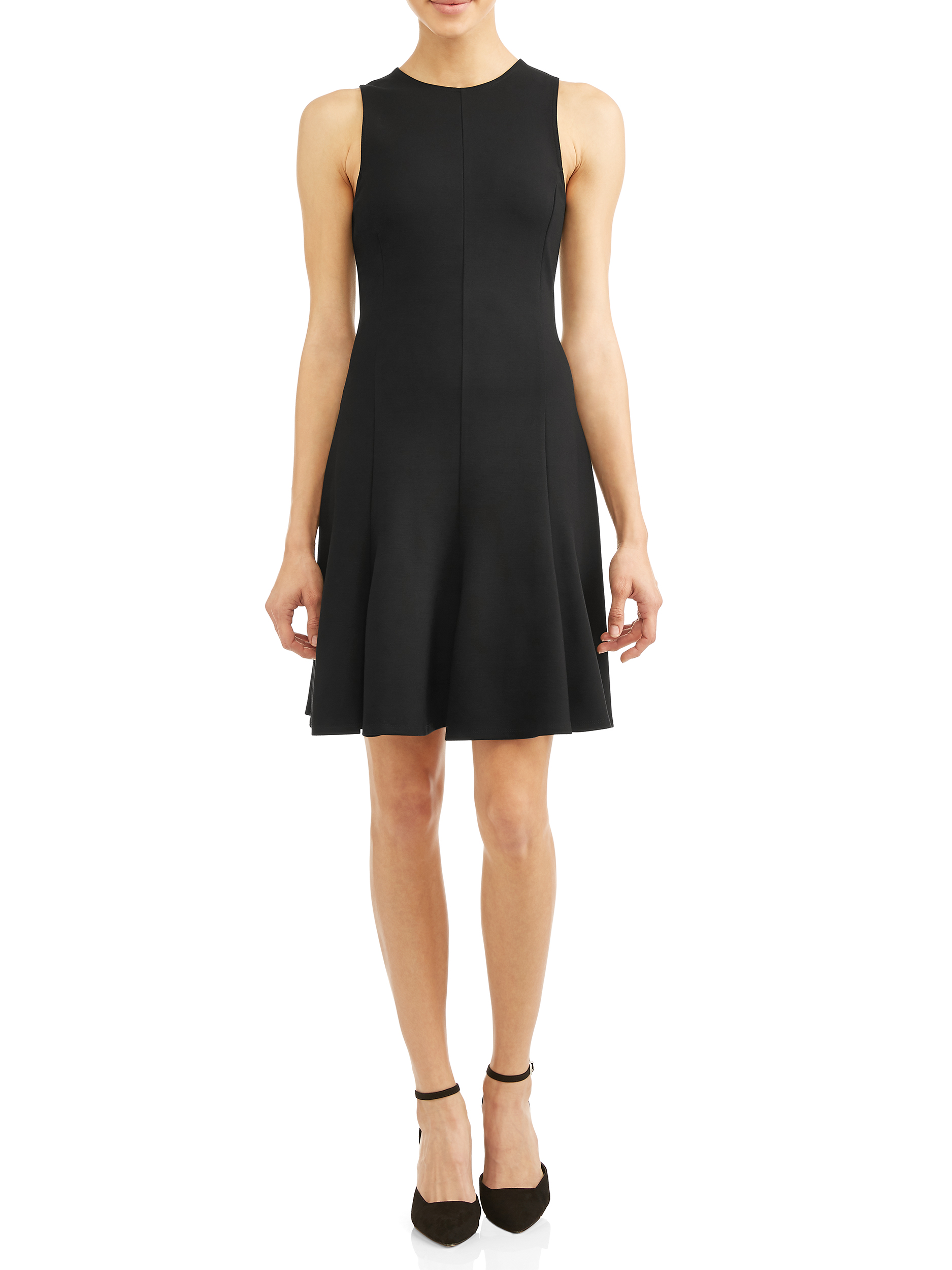Sleeveless A-Line Black Dress