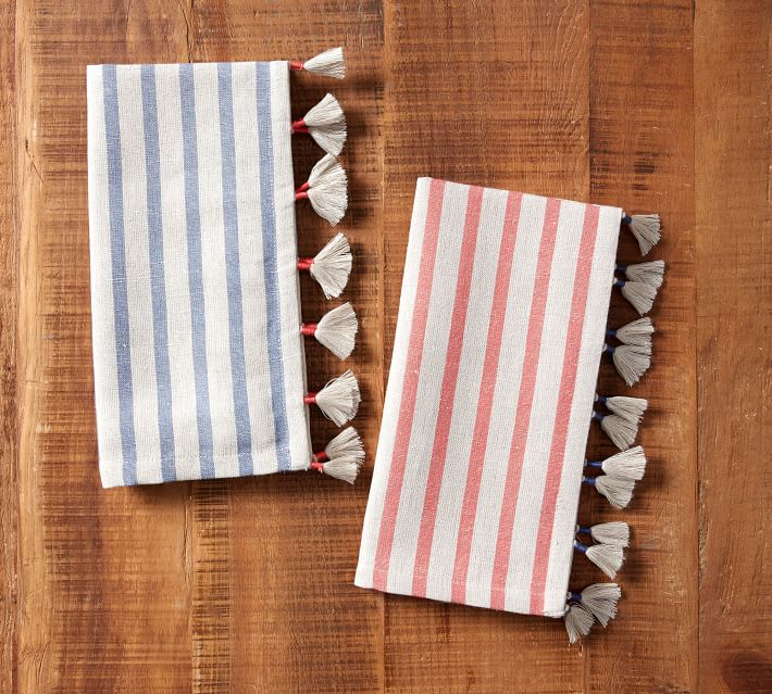 Striped Tassel Napkins