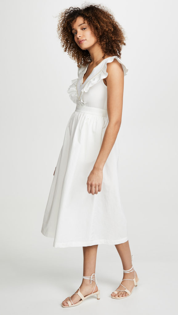 Midi Length Ruffle Dress