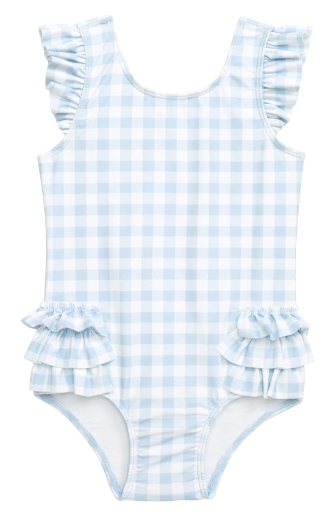 Gingham Ruffle One-Piece Baby Girl Swimsuit