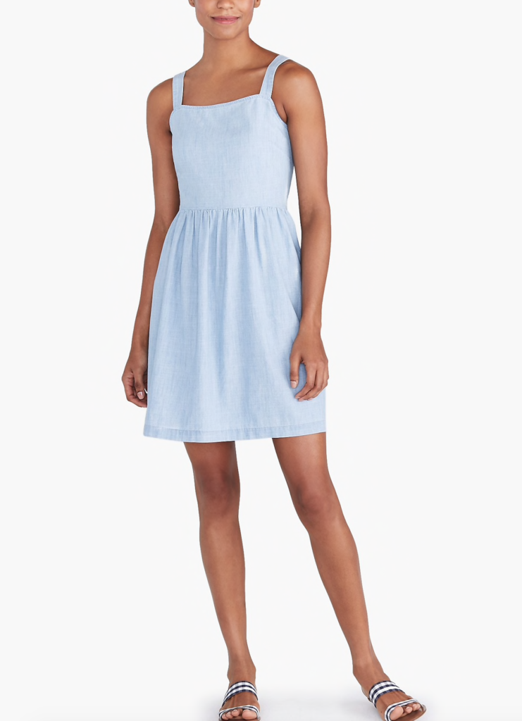 Chambray Apron Dress