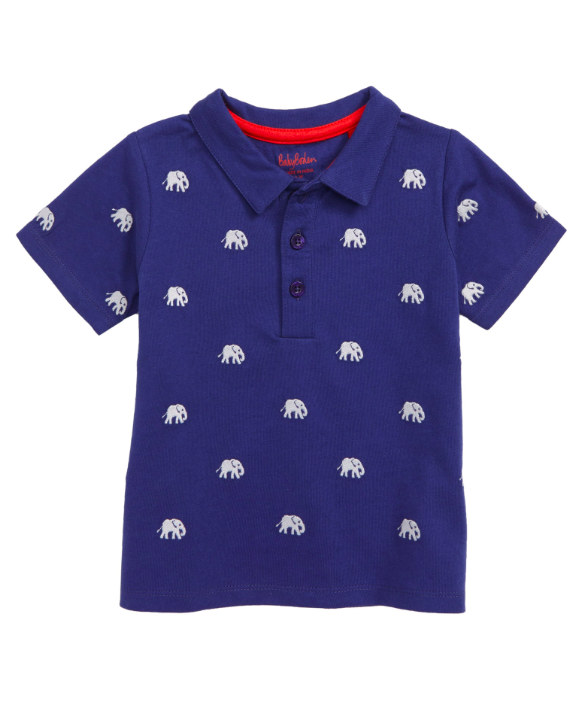 Elephant Embroidered Polo Shirt
