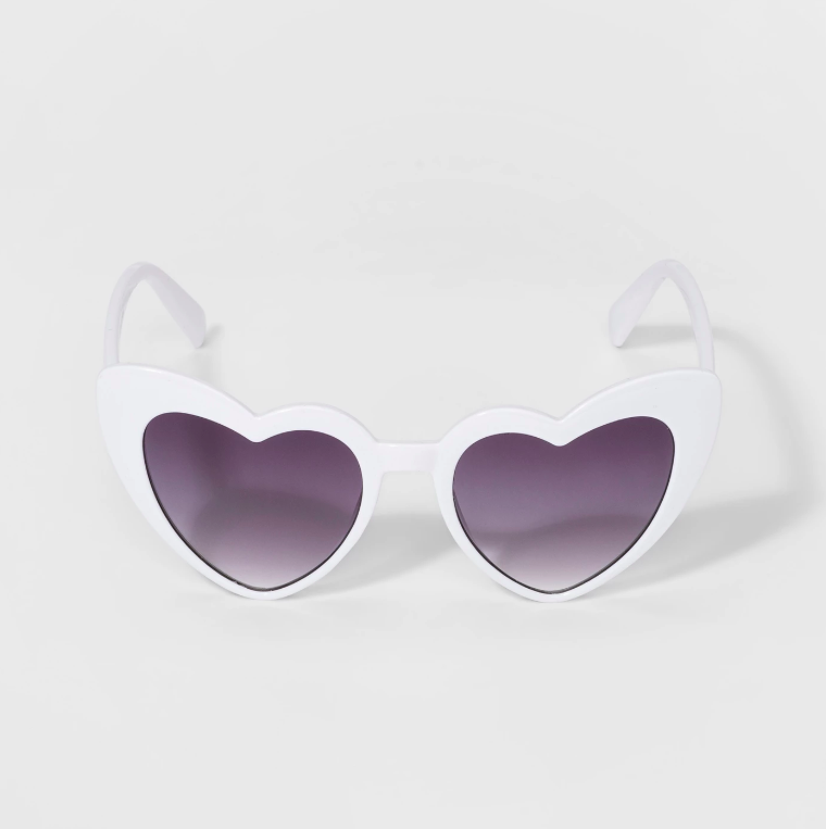 Girls' Heart Sunglasses White Kids
