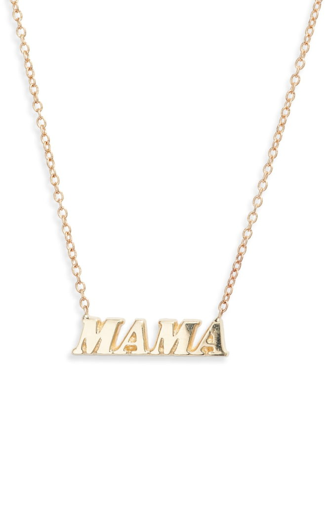 Yellow Gold MAMA Necklace