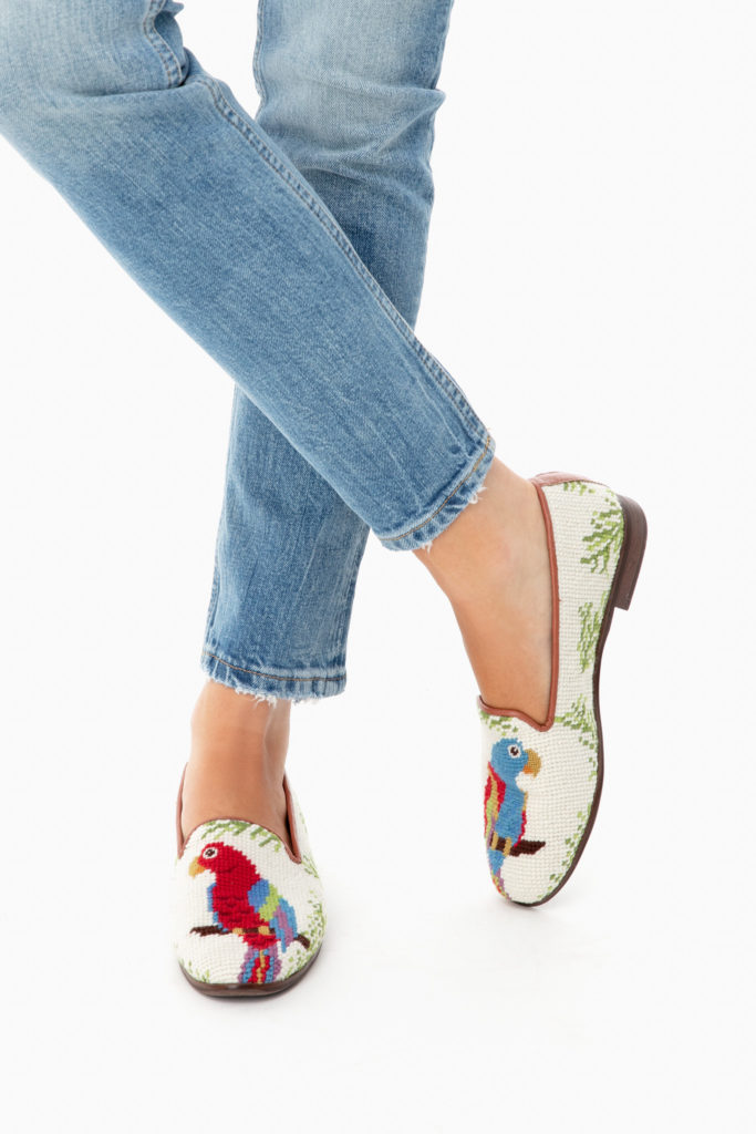 Parrot Needlepoint Loafers