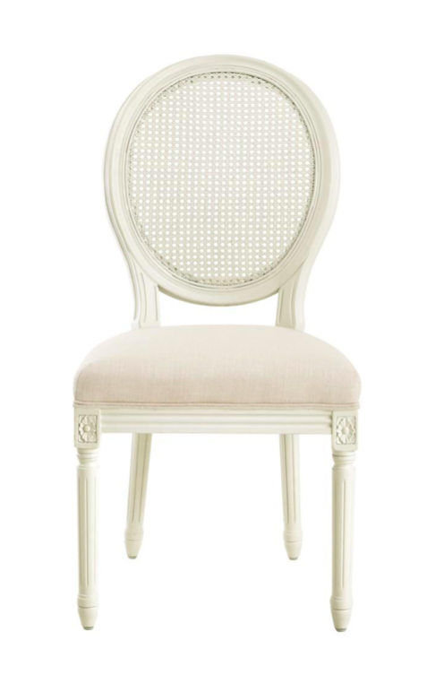 Jacques Oval Side Chairs with Cane Backs
