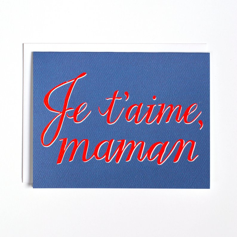 Je t'aime, maman Mother's Day Greeting Card French