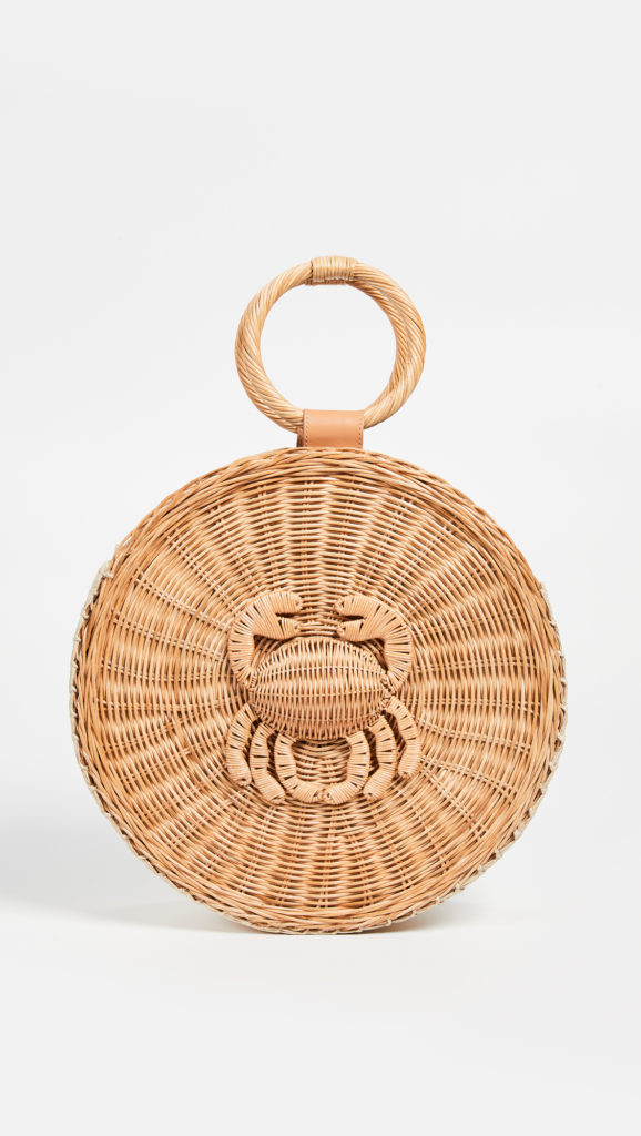 Woven Crab Round Tote