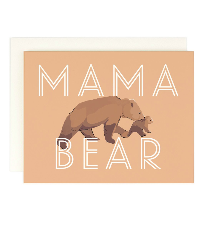 Mama Bear Mother's Day Greeting Card