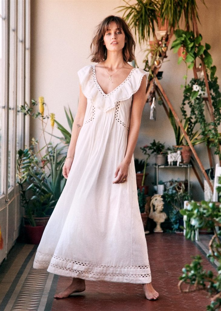 White Maxi Dress Sezane
