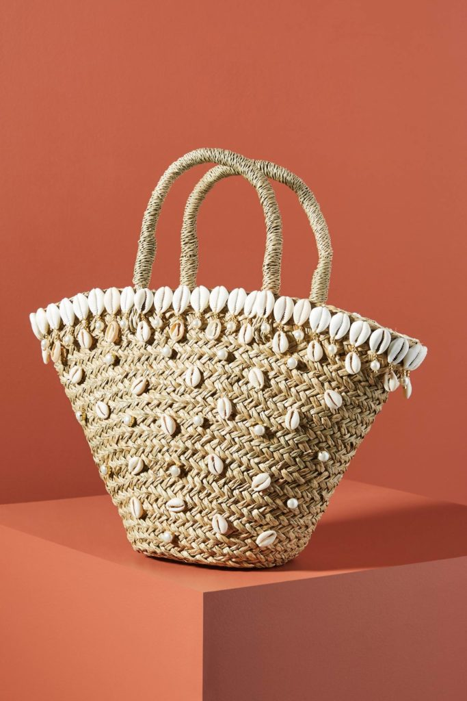 Shell Embellished Tote