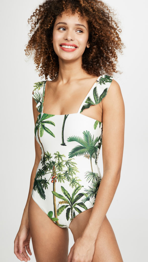 Palm Tree Print Swimsuit