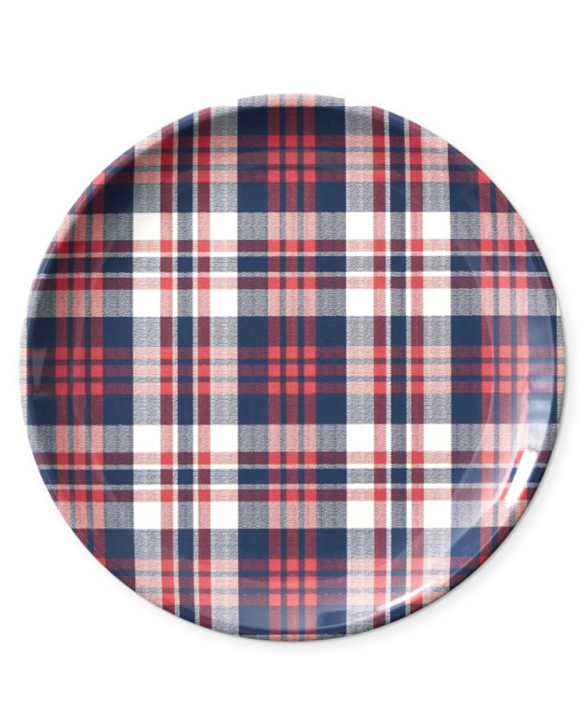 Newport Plaid Salad Plates