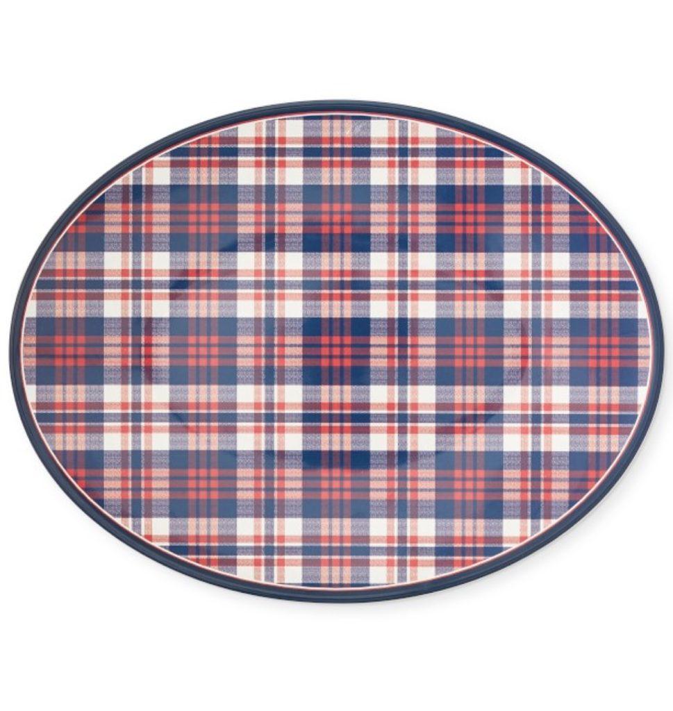 Newport Plaid Serving Platter