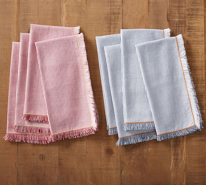 Fringe Striped Napkins
