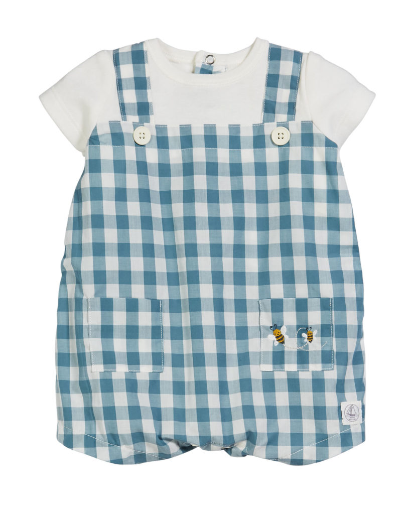 Gingham Shortalls