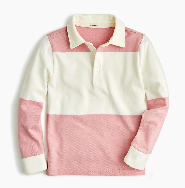 Pink Rugby Shirt Boys'