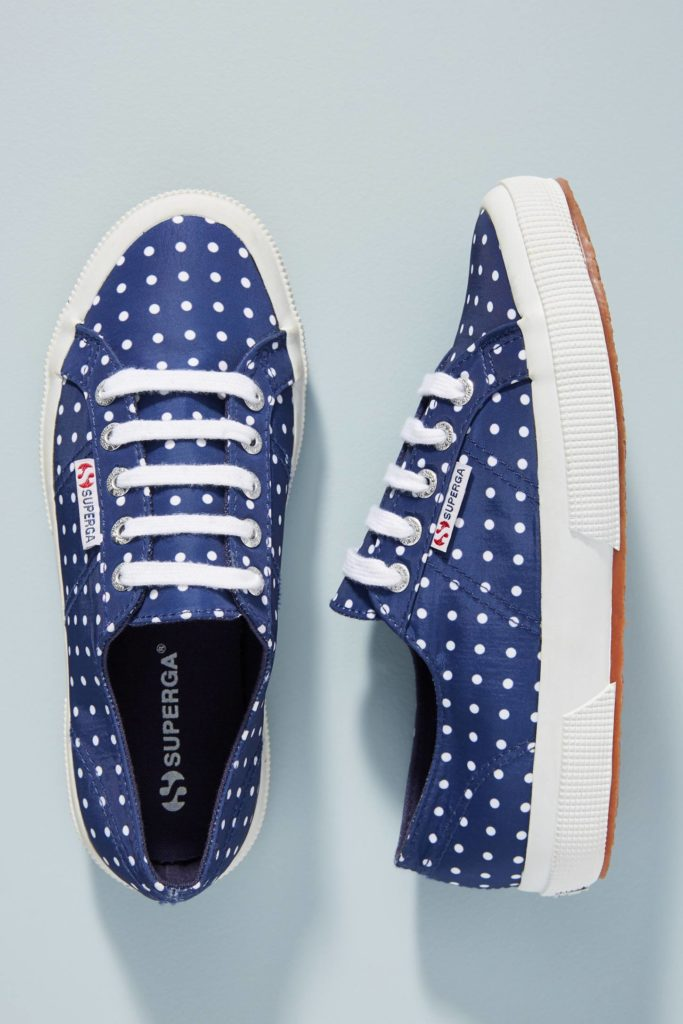 Polka Dot Navy Blue Sneakers