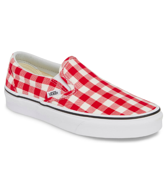 Red Gingham Vans Slip On Sneaker