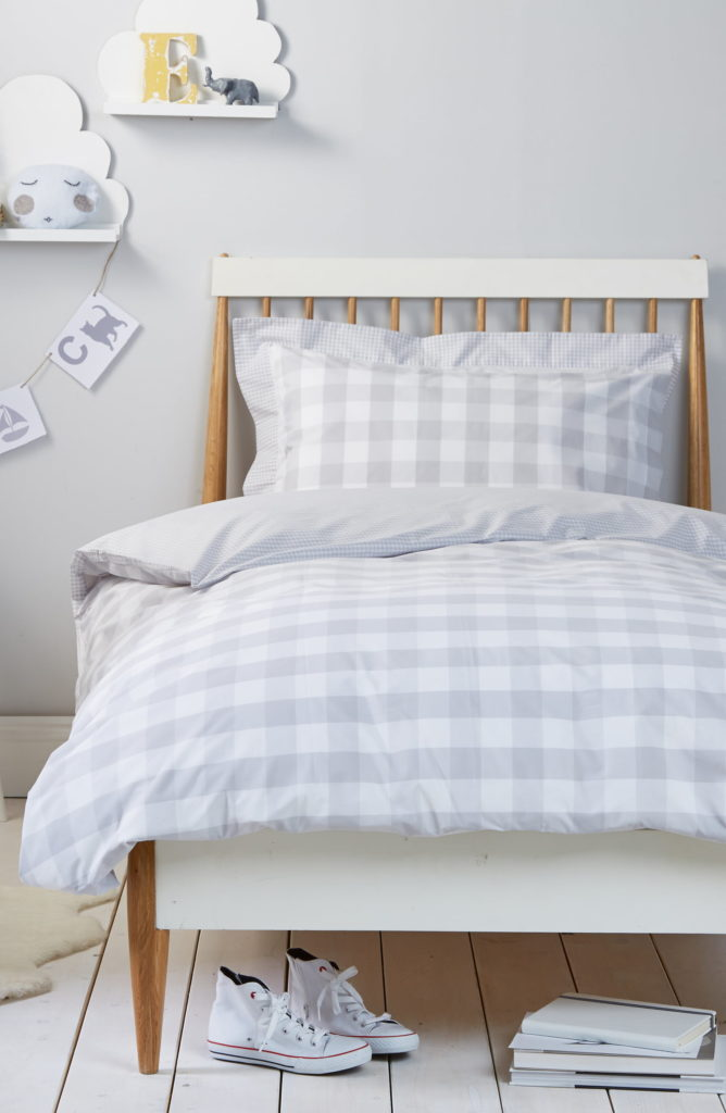 Reversible Gingham Duvet Cover