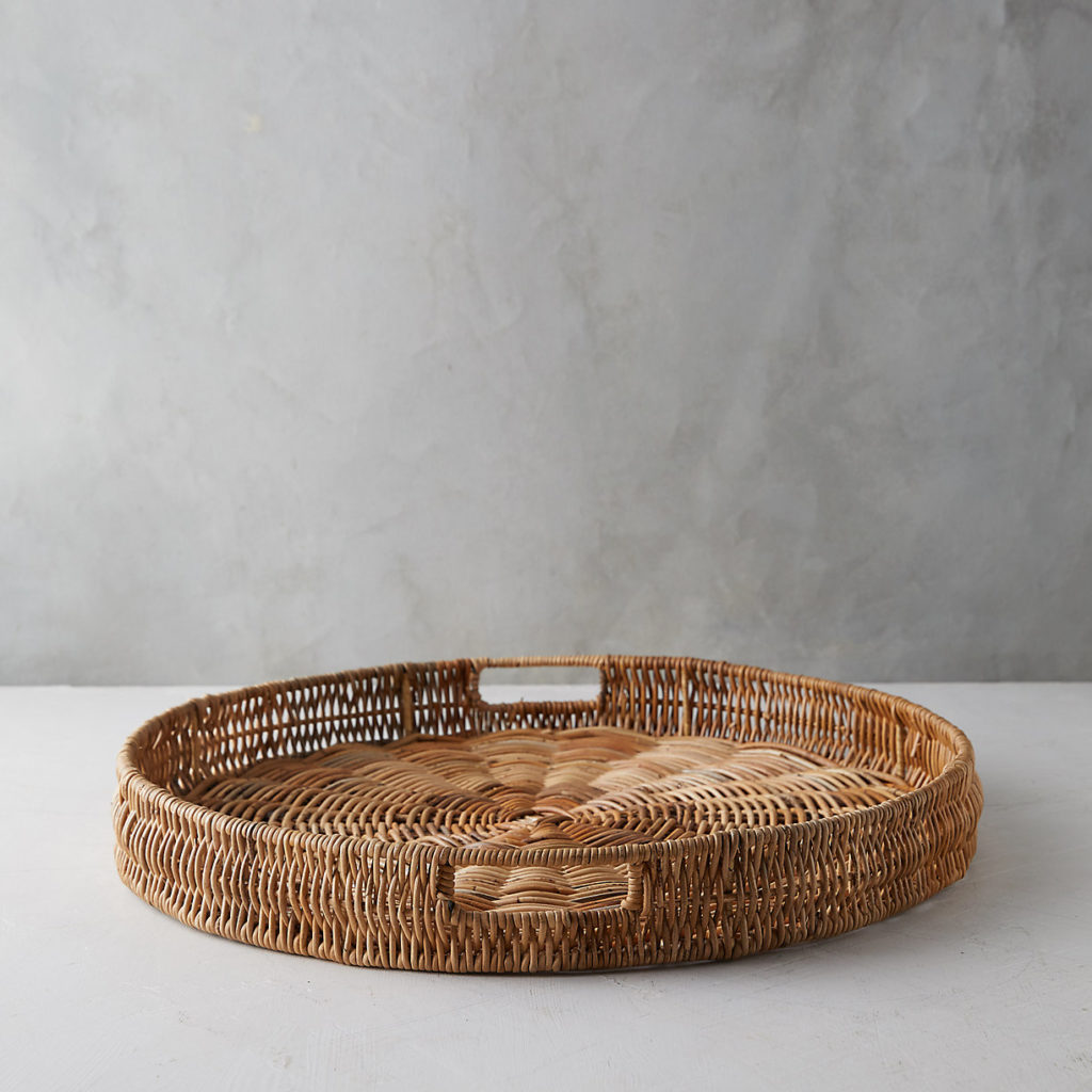 Round Wicker Serving Tray