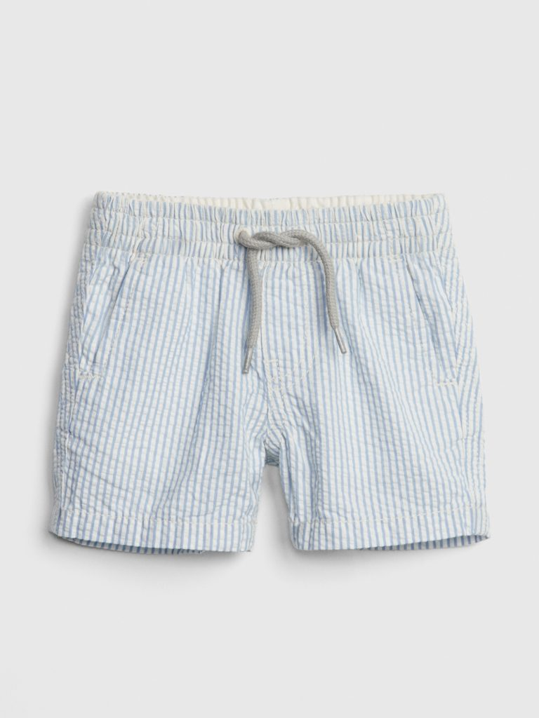 Seersucker Pull-On Shorts