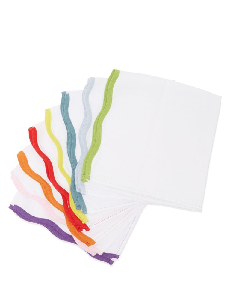 Scalloped Edge Napkins Set