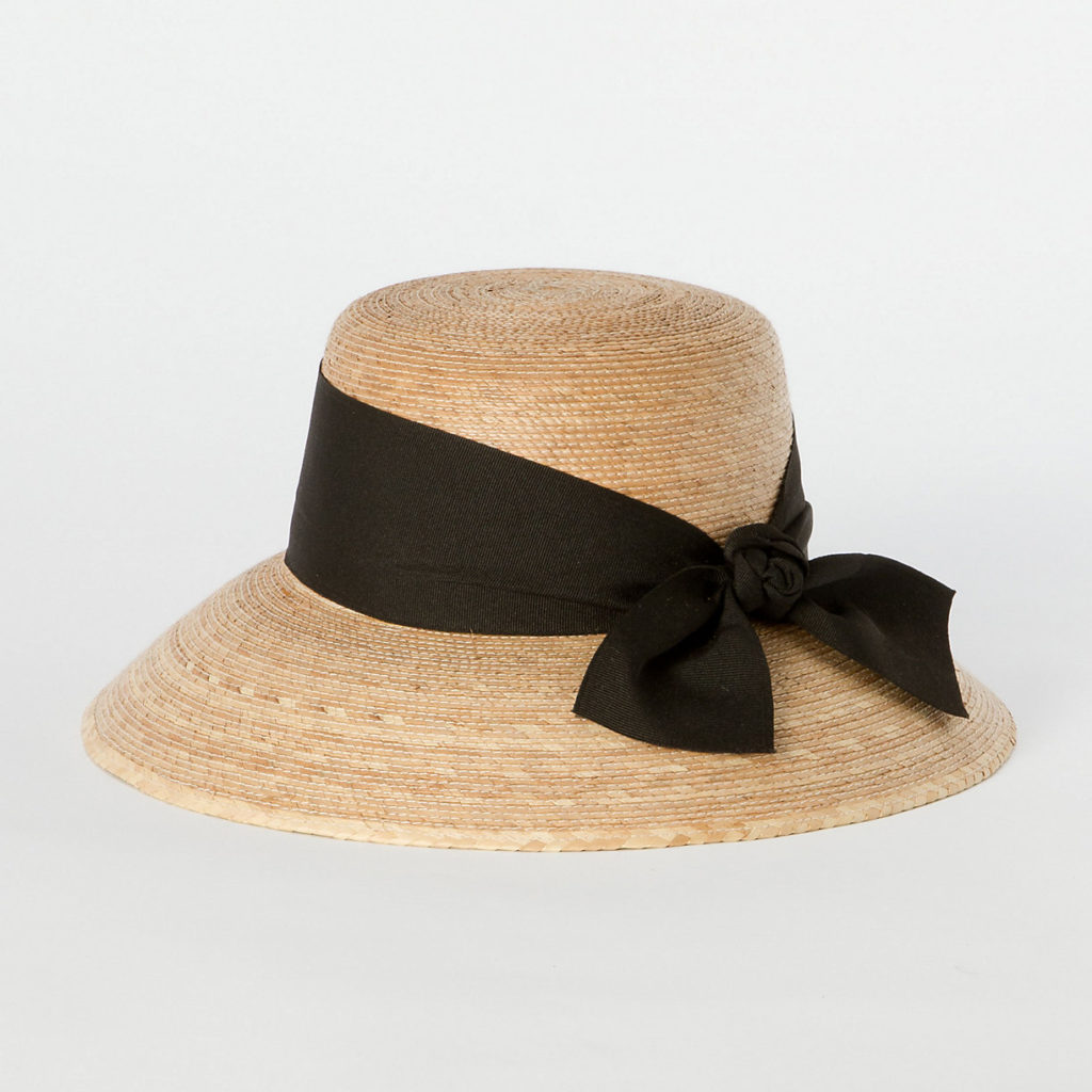 Woven Hat with Bow