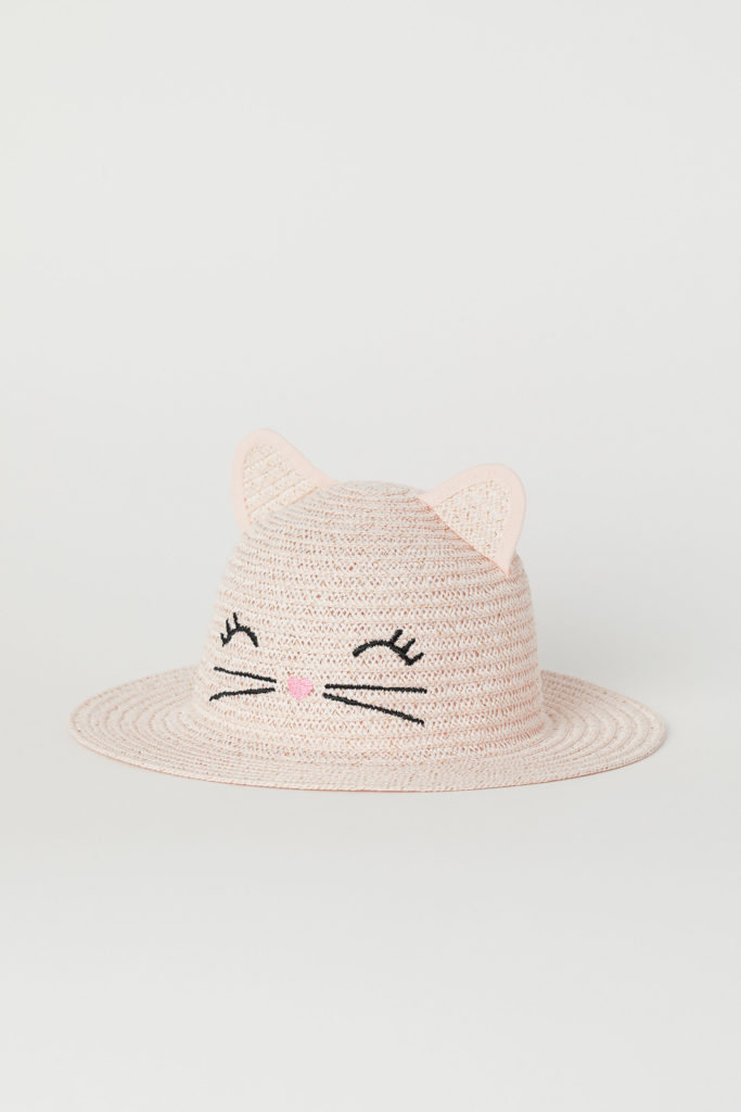 Cat Straw Hat with Ears