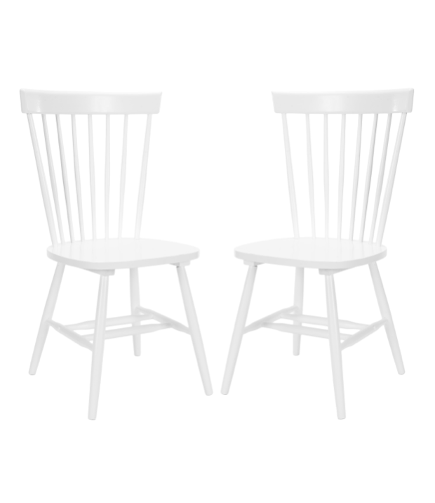 White Spindle Dining Chair