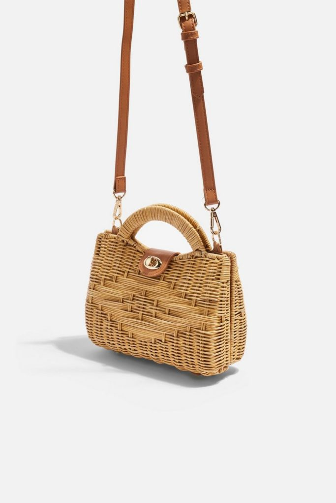 Wicker Straw Crossbody Bag