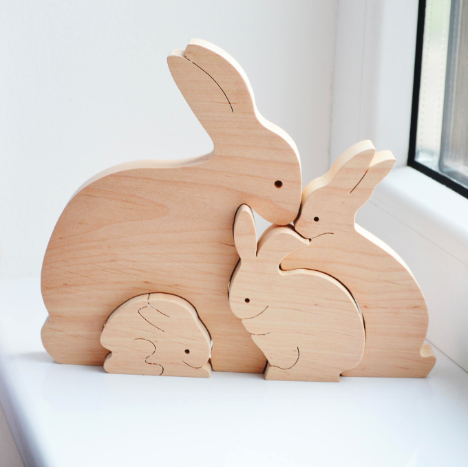 Wooden Bunny Toys