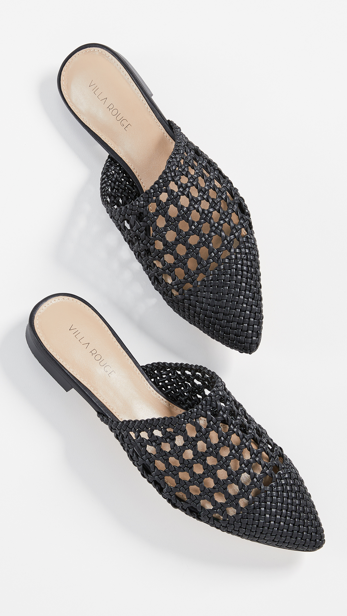 Woven Black Mules