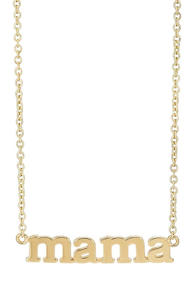 Mama Yellow Gold Pendant Necklace