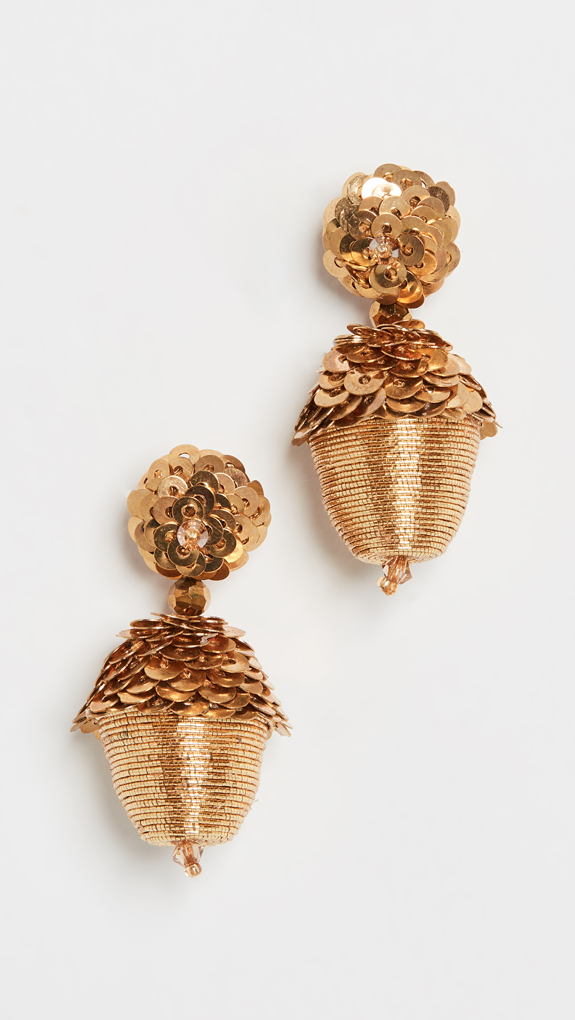 Beaded Drop Acorn Earrings